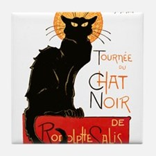 Tournee du Chat Steinlen Black Cat Tile Coaster