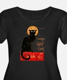 Tournee du Chat Steinlen Black Cat Plus Size T-Shi