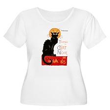 Tournee du Chat Steinlen Black Cat Plus Size T-Shi