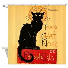 Famous black cat French Shower Curtain