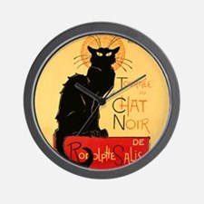 Famous black cat French Wall Clock