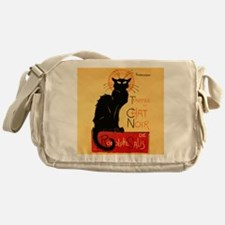 Famous black cat French Messenger Bag