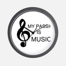 My Passion Is Music Wall Clock