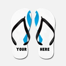 Light Blue Awareness Ribbon Flip Flops