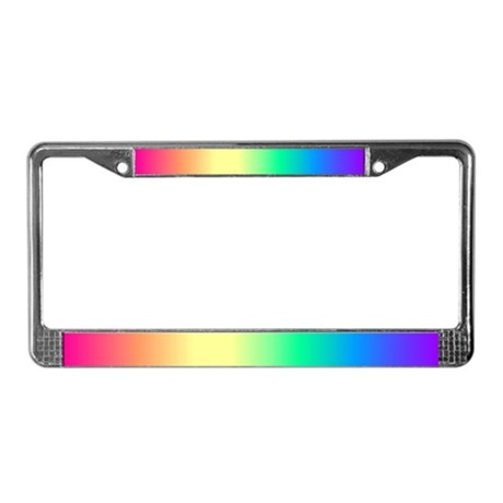 License Plate Frame - Lesbian Fading