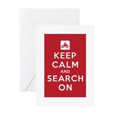 Keep Calm and Search On (ATV Team) Greeting Card