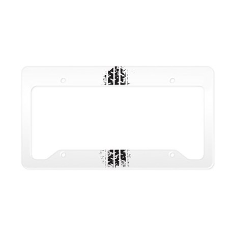 Tire Track License Plate Holder
