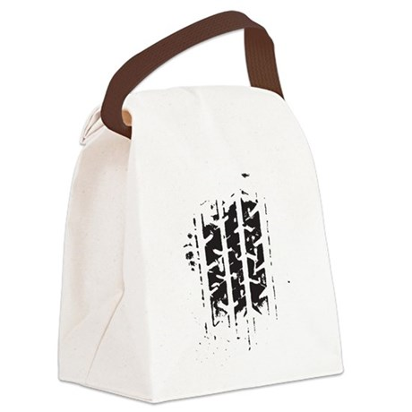 Tire Track Canvas Lunch Bag
