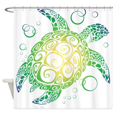 Exceptional Sea Turtle Shower Curtain