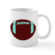 BROWN WHITE FOOTBALL Mug