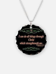 Philippians 4 13 Cross Necklace