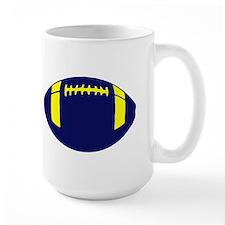 BLUE YELLOW FOOTBALL Mug
