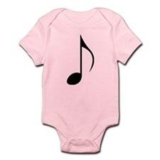 Black Eighth Note Body Suit