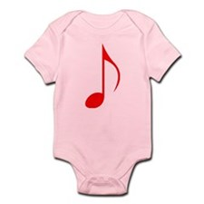Red Eighth Note Body Suit
