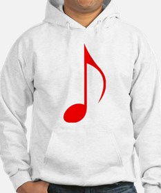 Red Eighth Note Hoodie