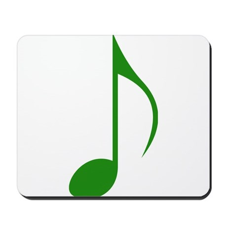 Green Eighth Note Mousepad