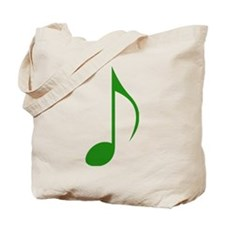 Green Eighth Note Tote Bag