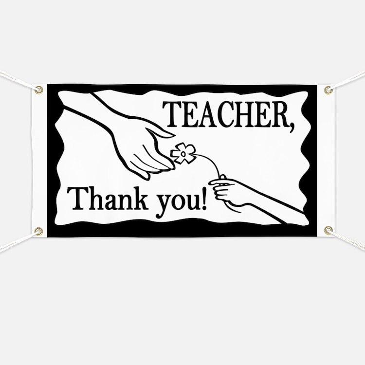 Teacher, Thank You! Banner