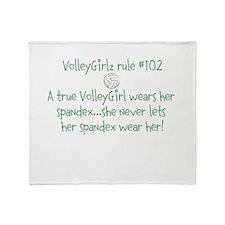 VolleyGirlz rule #102 Throw Blanket