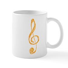 Orange Treble Clef Sketch Mug