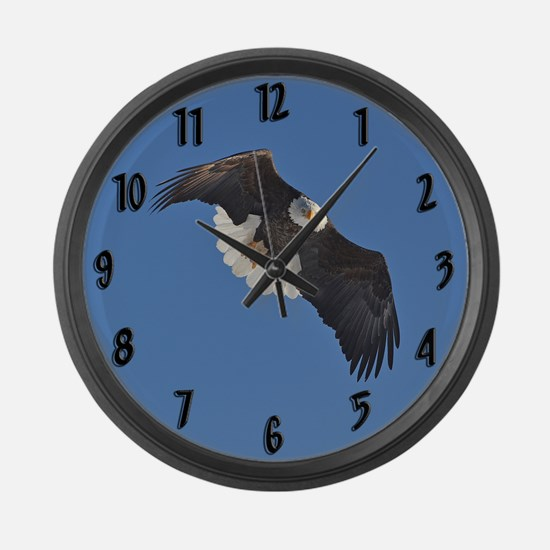Bald Eagle Large Wall Clock