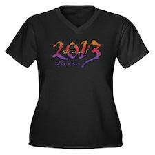 Class of 2013 Rocks Women's Plus Size V-Neck Dark