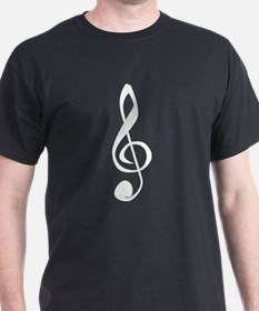 White Treble Clef T-Shirt