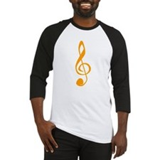 Orange Treble Clef Baseball Jersey