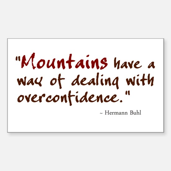 'Mountains' Sticker (Rectangle)