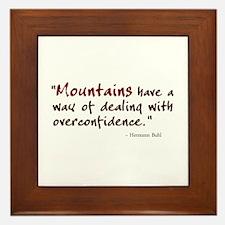 'Mountains' Framed Tile