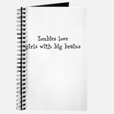 Zombies love girls with big brains Journal