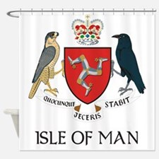 Isle of Man coat of arms Shower Curtain