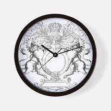 Unicorns Crest Wall Clock