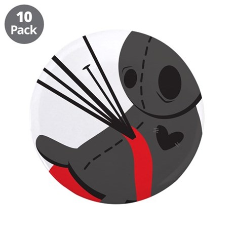 """Voodoo Doll 3.5"""" Button (10 pack)"""
