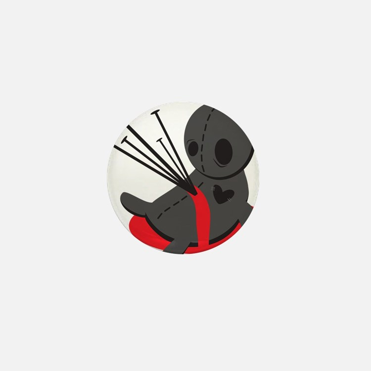 Voodoo Doll Mini Button