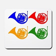 French Horn Pop Art Mousepad