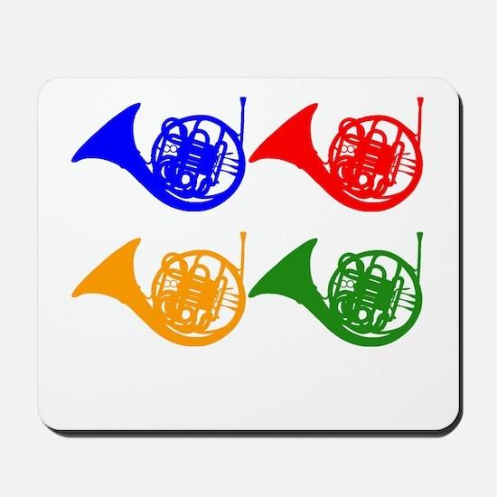 French Horn Pop Art Mousepad
