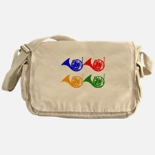 French Horn Pop Art Messenger Bag