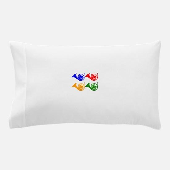 French Horn Pop Art Pillow Case