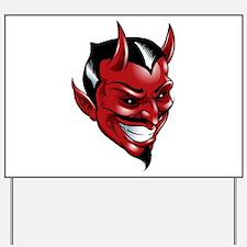 Devil Red Yard Sign