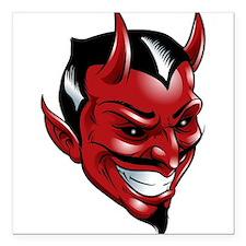 "Devil Red Square Car Magnet 3"" x 3"""