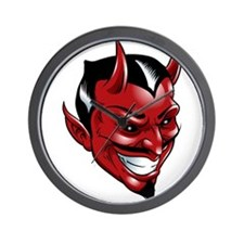 Devil Red Wall Clock
