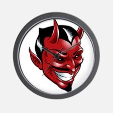Devil Red Wall Clock
