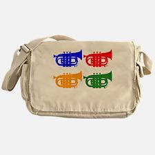 Trumpet Pop Art Messenger Bag