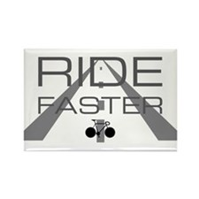 ride faster Rectangle Magnet