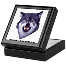 Courage Wolf Keepsake Box