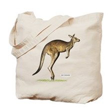 Gray Kangaroo Animal Tote Bag