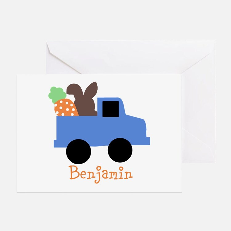 Easter time truck personalized Greeting Card