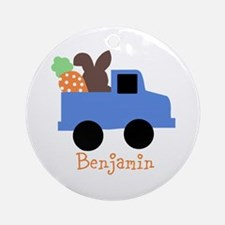 Easter time truck personalized Ornament (Round)