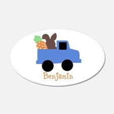 Easter time truck personalized Wall Decal